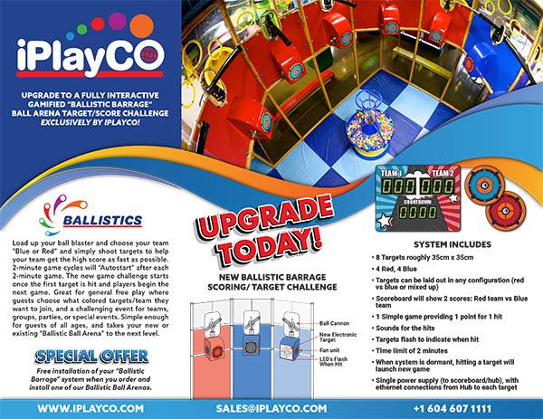 iPlayCO, Ballistics, Barrage, Ballocity, Ball Shooters