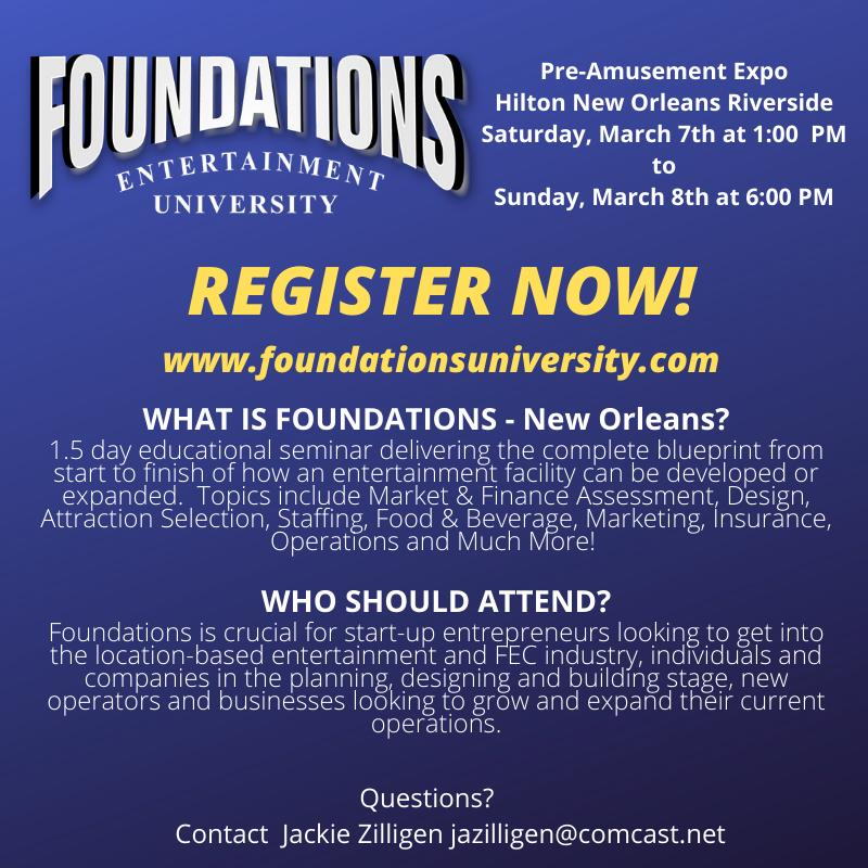 iPlayCO, Foundations Entertainment University, Amusement Expo