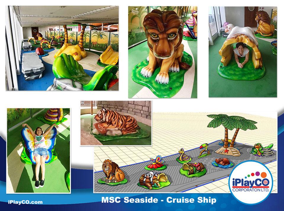 MSC, Seaside, Tuff Stuff, sculpted foam, indoor playground equipment, play designs